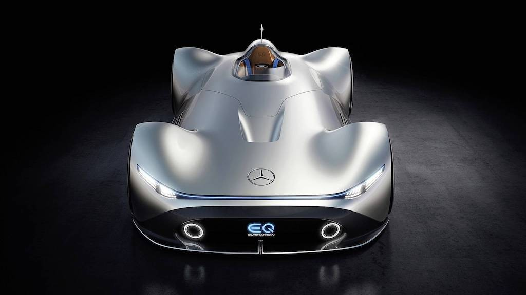"Tram tro truoc concept Mercedes-Benz EQ Silver Arrow ""tan hoai co"" tuyet dep"