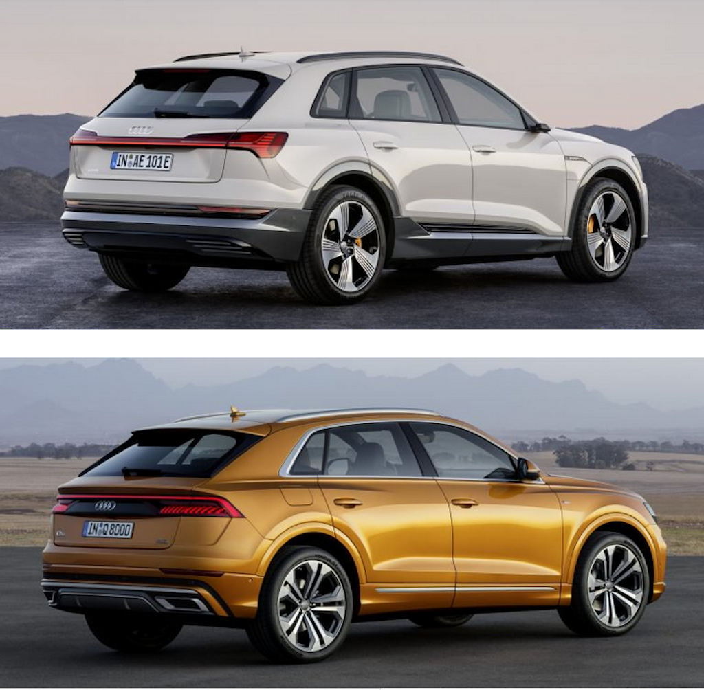 At chu bai Audi e-tron khac biet the nao so voi Audi Q8