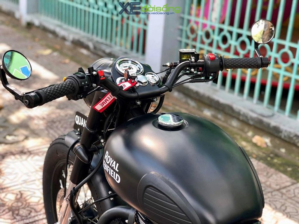 Ngam Royal Enfield Classic 500 do Bobber chat lu tu CTShopMotor
